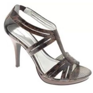 Style & Co. Sultry Brown Snakeskin Heels 11M